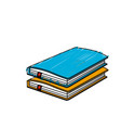 notebooks paper document notes object vector image vector image