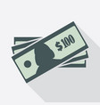 one hundred dollars banknotes icon vector image vector image