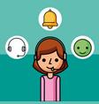 operator woman character customer service vector image vector image