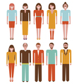People characters set vector image vector image
