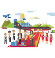 people musicians with musical instruments go on vector image