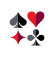 playing cards shades vector image vector image