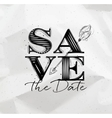 Poster wedding save date vector image vector image