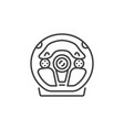 racing wheel outline concept icon vector image