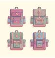 rerto vintage backpack vector image vector image