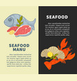 seafood restaurant menu design template for vector image vector image