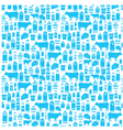 Seamless dairy products pattern vector image