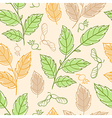 seamless pattern with elm branches vector image vector image