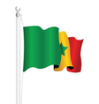 senegal flag vector image vector image