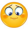 shy emoticon looking down vector image vector image