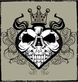 Skull Heart Tattoo vector image