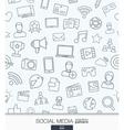 Social Media wallpaper Network communication vector image vector image