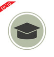 student hat icon on whate background eps vector image vector image