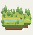 summer landscapes flat design vector image vector image