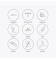 Swimming football and skiing icons Ice hockey vector image vector image