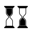 symbolic image of an hourglass vector image vector image