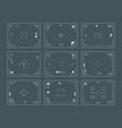viewfinder interface digital filing dslr cameras vector image vector image