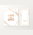 wedding invitation cards with gold vector image vector image