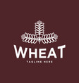 wheat vintage logo design vector image vector image