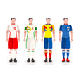 world cup group h jerseys kit vector image vector image