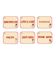 gift tag for your product with text handmade love vector image