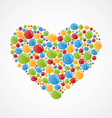 Heart of colorful bubbles vector image