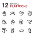 12 bear icons vector image vector image