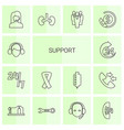 14 support icons vector image vector image
