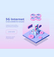 5g innovation online wireless technology global vector image vector image