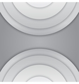 Abstract grey paper circles background vector image vector image