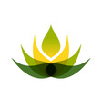 abstract multiply lotus flower symbol logo design vector image vector image