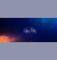 abstract polygonal geometric banner in two shades vector image vector image