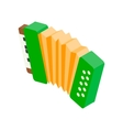 Accordion isometric 3d icon vector image vector image