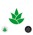 aloe vera plant isolated icon aloe leaves logo vector image vector image