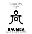 astrology planet haumea vector image vector image
