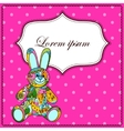 Background with bunny toy vector image vector image