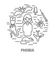 banners for phobias vector image
