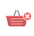 basket buy disable error shop shopping icon vector image vector image