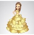 Beautiful Princess In Gold Dress vector image vector image