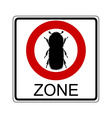 beetle traffic sign vector image vector image