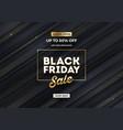 black friday sale design black striped background vector image vector image