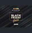 black friday sale design striped background vector image vector image