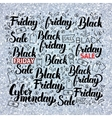 Black Friday Set over Silver vector image vector image
