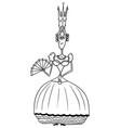 cartoon medieval fantasy queen vector image vector image