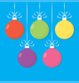 christmas card with colorful balls vector image