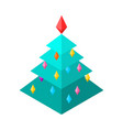 christmas tree isometric style christmas and new vector image vector image