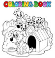 coloring book with domestic animals vector image vector image