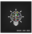 Creative brain Idea concept background design vector image vector image
