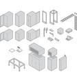 data center equipment vector image vector image