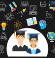 education flat banner vector image vector image